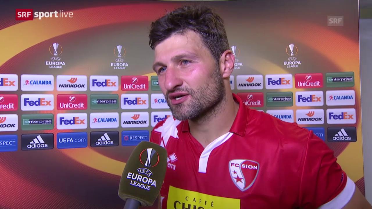 Fussball: Europa League, Sion - Rubin, Interview Salatic