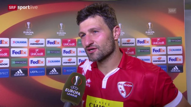 Video «Fussball: Europa League, Sion - Rubin, Interview Salatic» abspielen