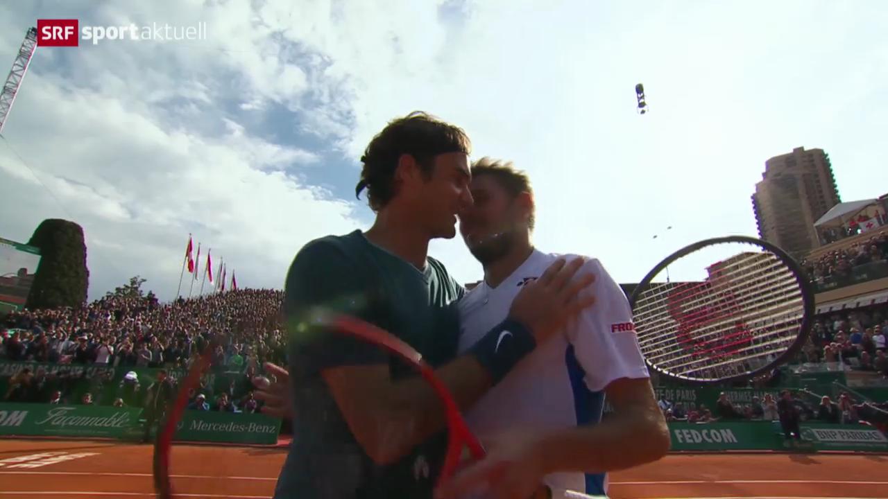 Tennis: Final Monte Carlo, Wawrinka - Federer