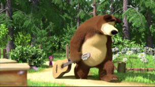 Video «Masha und der Bär - Liebeschummer» abspielen