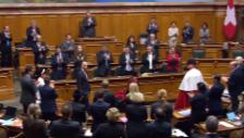 Video «Applaus für die Bundespräsidentin» abspielen
