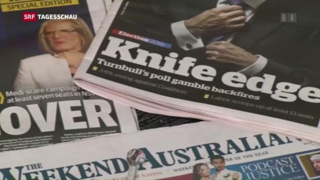 Video «Noch kein Ergebnis nach Wahlen in Australien» abspielen