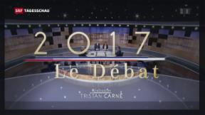 Video «Schlagabtausch vor der Präsidentenwahl in Frankreich» abspielen
