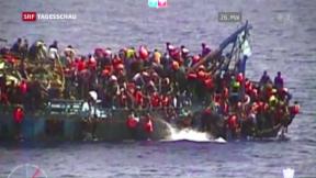 Video «Mehrere Schiffsunglücke im Mittelmeer» abspielen