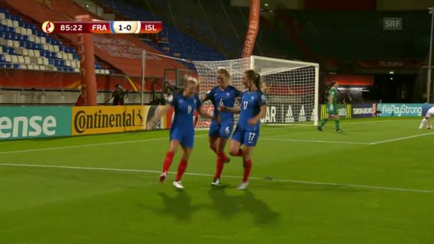 Video «Frankreich feiert gegen Island Mini-Sieg» abspielen
