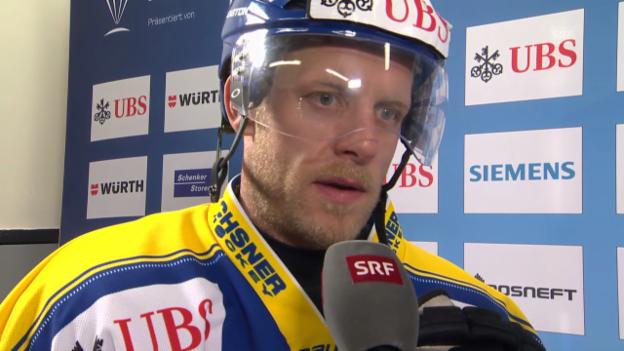 Video «Eishockey: Spengler Cup, Interview mit Reto von Arx» abspielen
