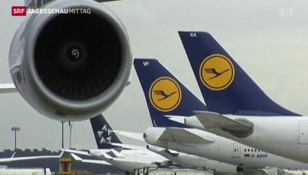 Video «Streik gegen Rotstift bei Lufthansa-Piloten» abspielen