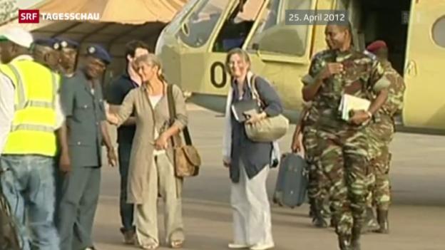 Video «Entführte Schweizerin auf Al-Kaida-Video» abspielen
