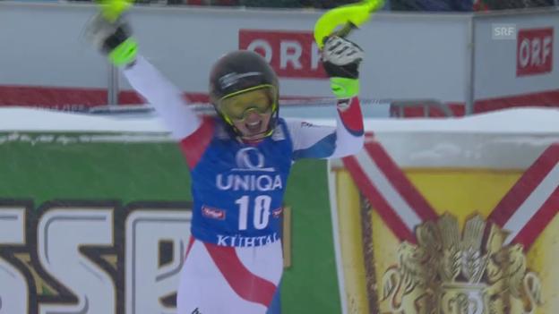 Video «Ski: Slalom Frauen in Kühtai» abspielen