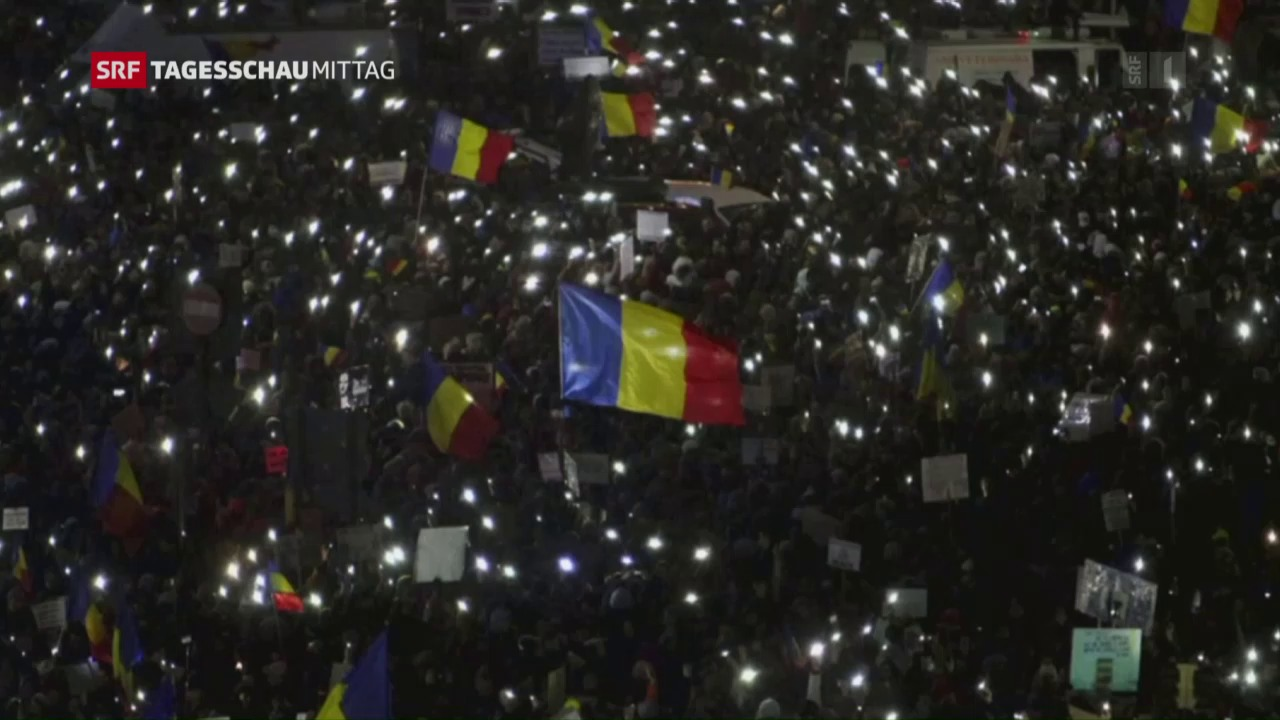 Anhaltende Proteste in Rumänien