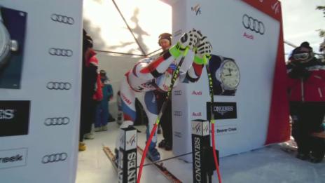 Video «Ski: WM 2015 Vail/Beaver Creek, Super-G Männer, die Fahrt von Defago» abspielen
