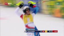 Video «Ski: Holdener fährt in Ofterschwang aufs Podest» abspielen