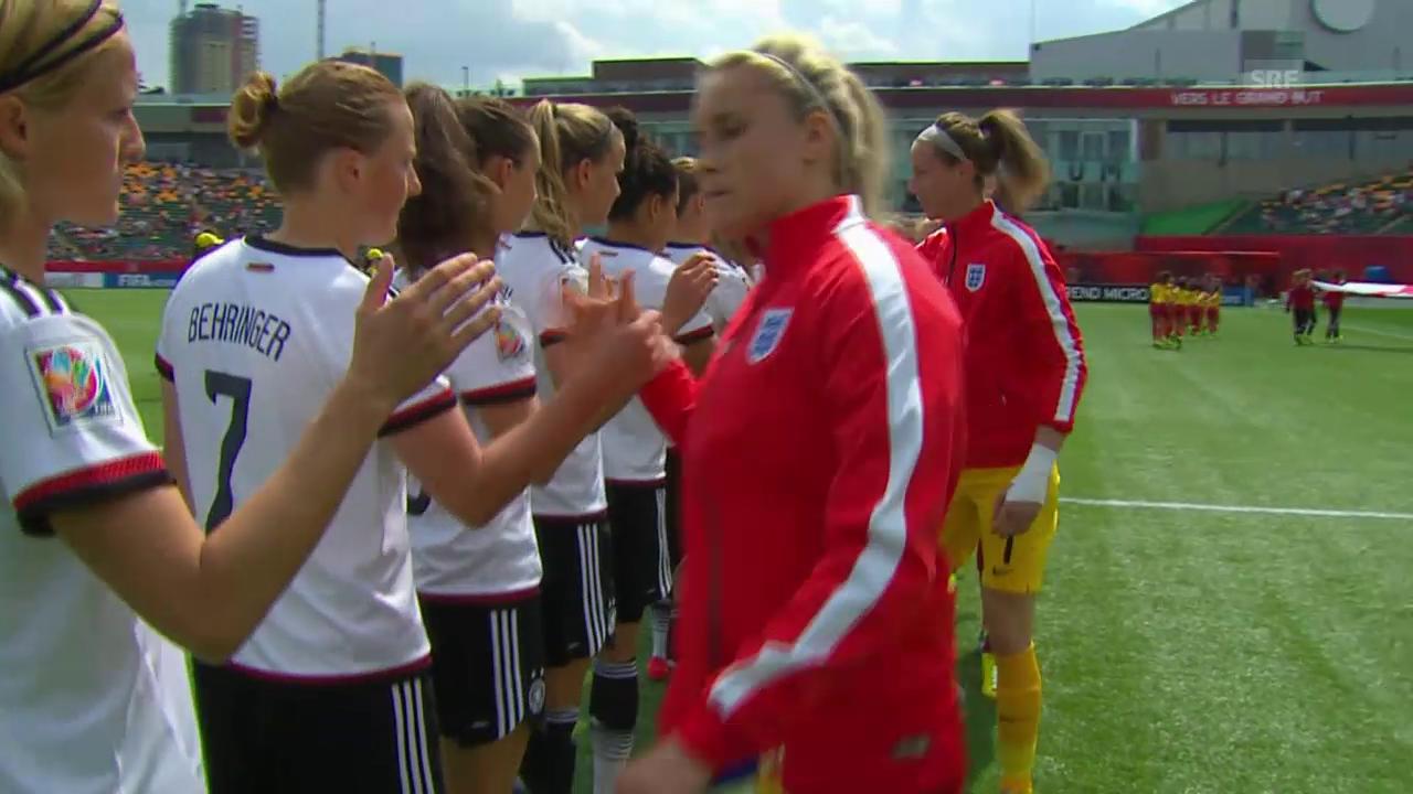 Fussball: Frauen-WM Kanada, Zusammenfassung Deutschland - England