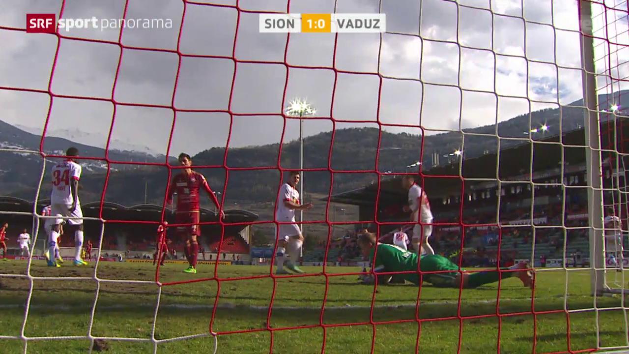 Sion rehabilitiert sich gegen Vaduz