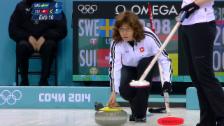 Video «Curling: Schweiz - Schweden, letzter Stein der Schweizerinnen (sotschi direkt, 19.02.2014)» abspielen