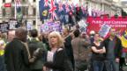 Video «Rechtsradikale demonstrieren in Grossbritannien» abspielen