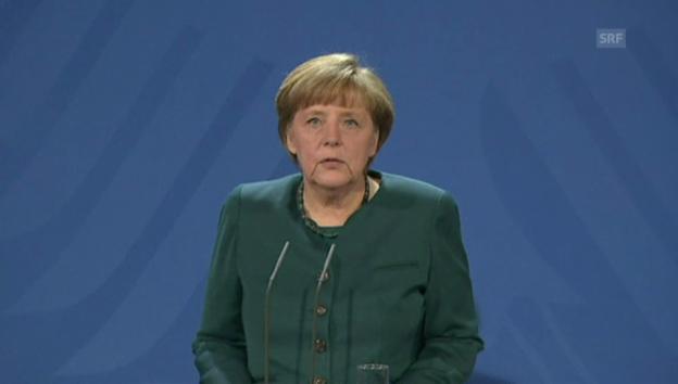 Video «Angela Merkel über den Rücktritt von Hans-Peter Friedrich» abspielen