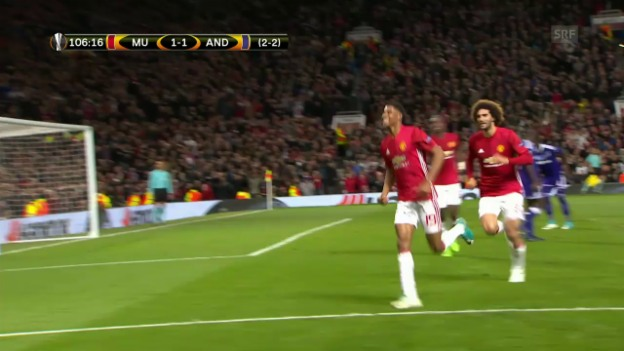 Video «Die Live-Highlights bei ManUnited - Anderlecht» abspielen