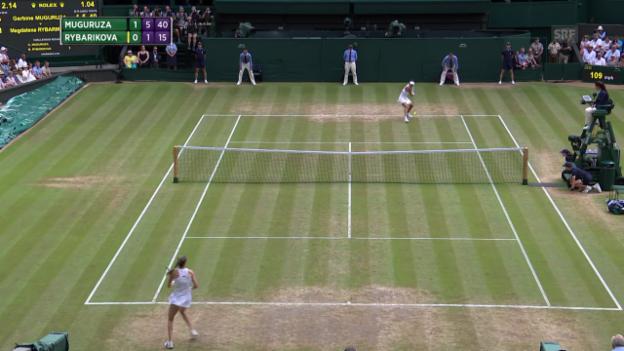 Video «Muguruza-Rybarikova: die entscheidenden Ballwechsel» abspielen