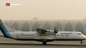 Video «Iranisches Passagierflugzeug abgestürzt » abspielen