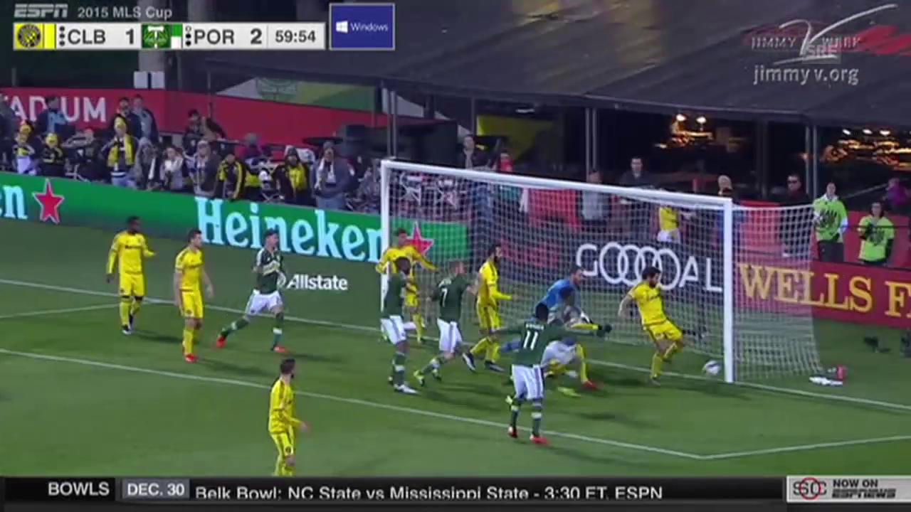 Fussball: MLS, Final Portland - Columbus, kurioses Nicht-Tor
