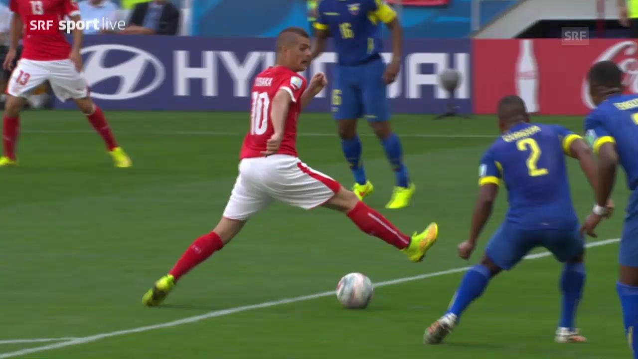 Fussball: WM, Zusammenfassung Schweiz - Ecuador