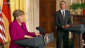 Video «Merkel bei Obama: Gespräche zum Ukraine-Konflikt» abspielen