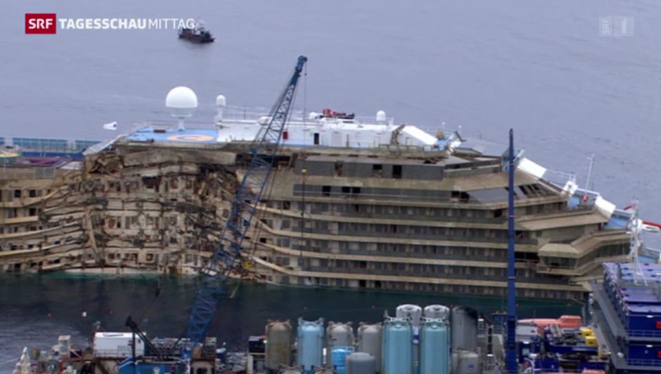 «Costa Concordia» wird aufgerichtet (Zeitraffer)