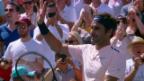 Video «Federer macht mit Polansky kurzen Prozess» abspielen