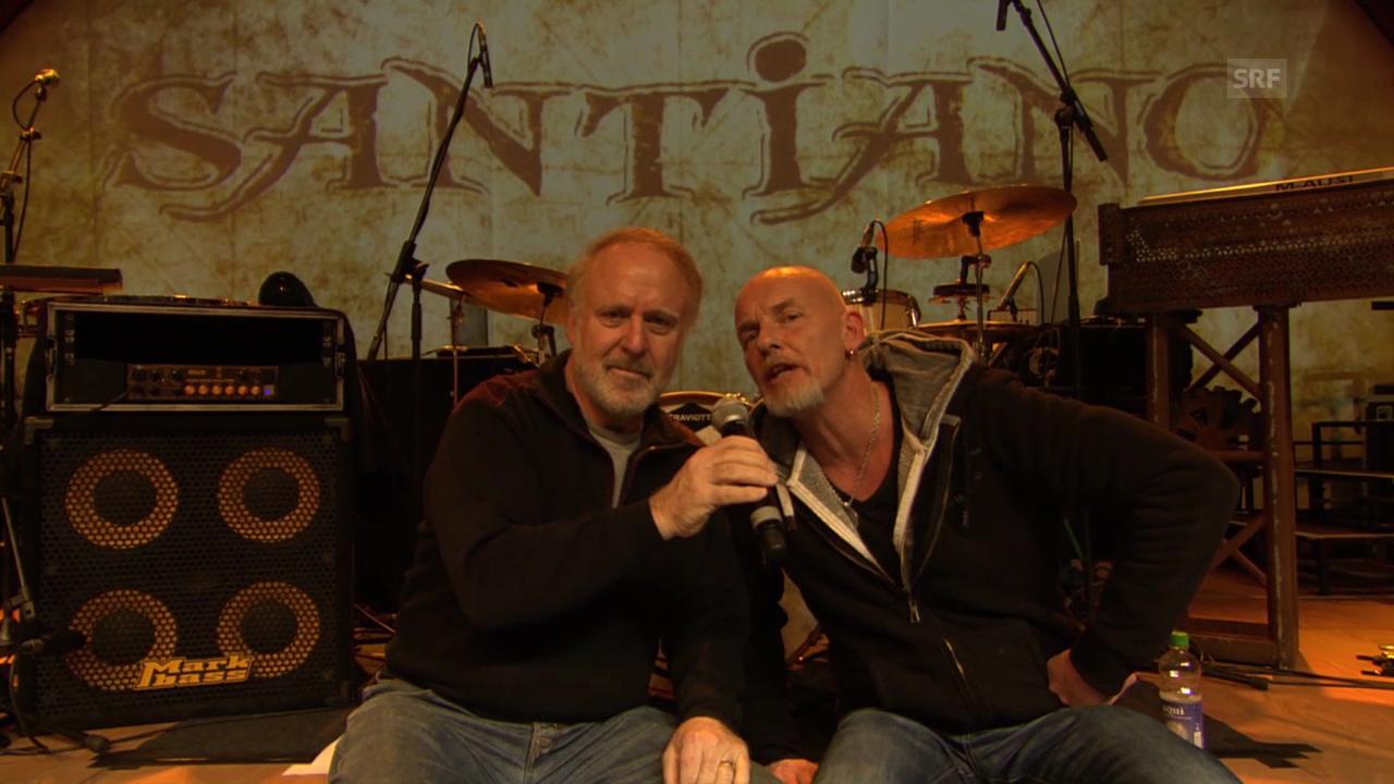Santiano und Peter Reber