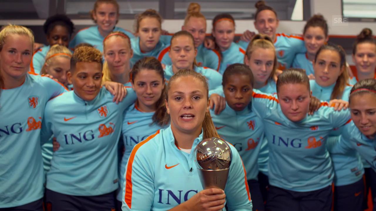 Weltfussballerin Lieke Martens dankt ihren Eltern