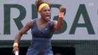 Video «Tennis: Serena Williams gewinnt Final gegen Maria Scharapowa» abspielen