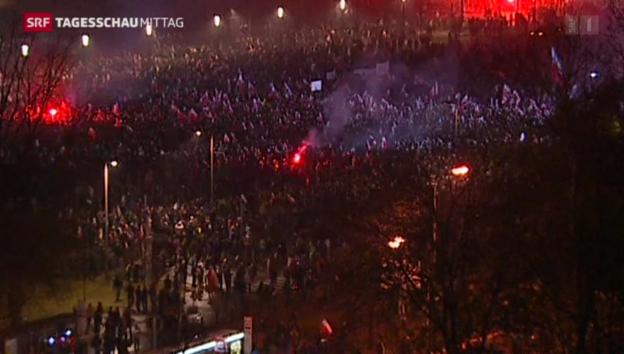 Video ««Marsch der Patrioten» in Warschau» abspielen