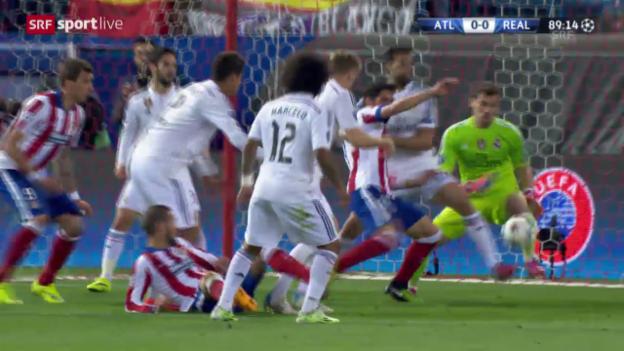 Video «Fussball: Champions League, Viertelfinal-Hinspiel, Atletico Madrid - Real Madrid» abspielen