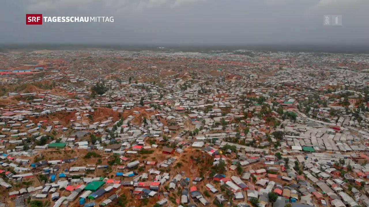 Wie engagiert sich die Schweiz in den Rohingya-Camps?