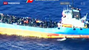 Video «Neue Flüchtlingstragödie auf dem Mittelmeer» abspielen