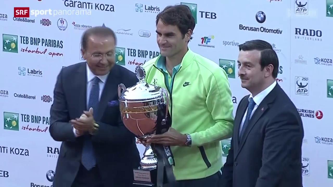 Tennis: ATP Istanbul, Final Federer - Cuevas