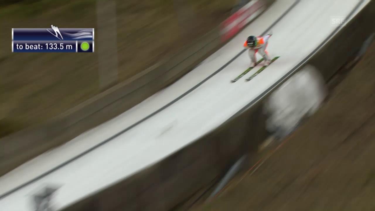 Skispringen: Weltcup Engelberg, Schanzenrekord Prevc