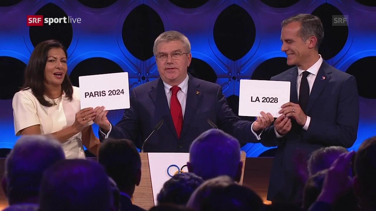 Paris und Los Angeles dürfen Sommerspiele austragen