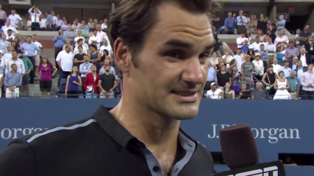Video «Tennis: US Open, Platz-Interview mit Roger Federer» abspielen