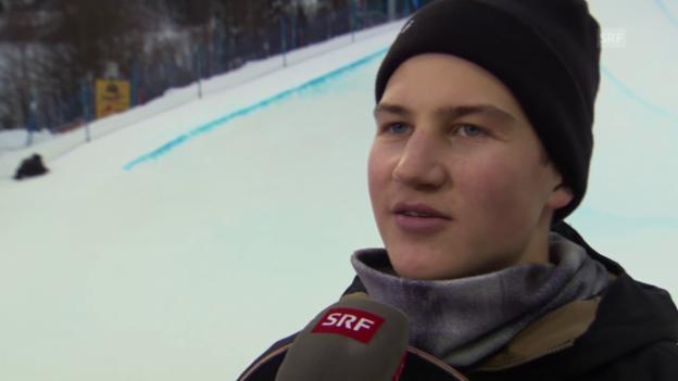 Video «Snowboard: David Hablützel im Interview» abspielen