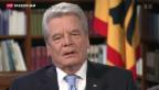 Video «Interview mit Bundespräsident Joachim Gauck» abspielen