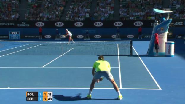 Video «Break für Federer zum 4:1» abspielen