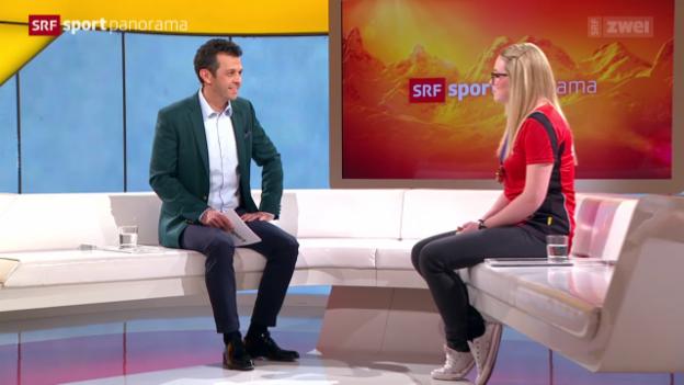Video «Curling: Gespräch mit Alina Pätz, Teil II» abspielen