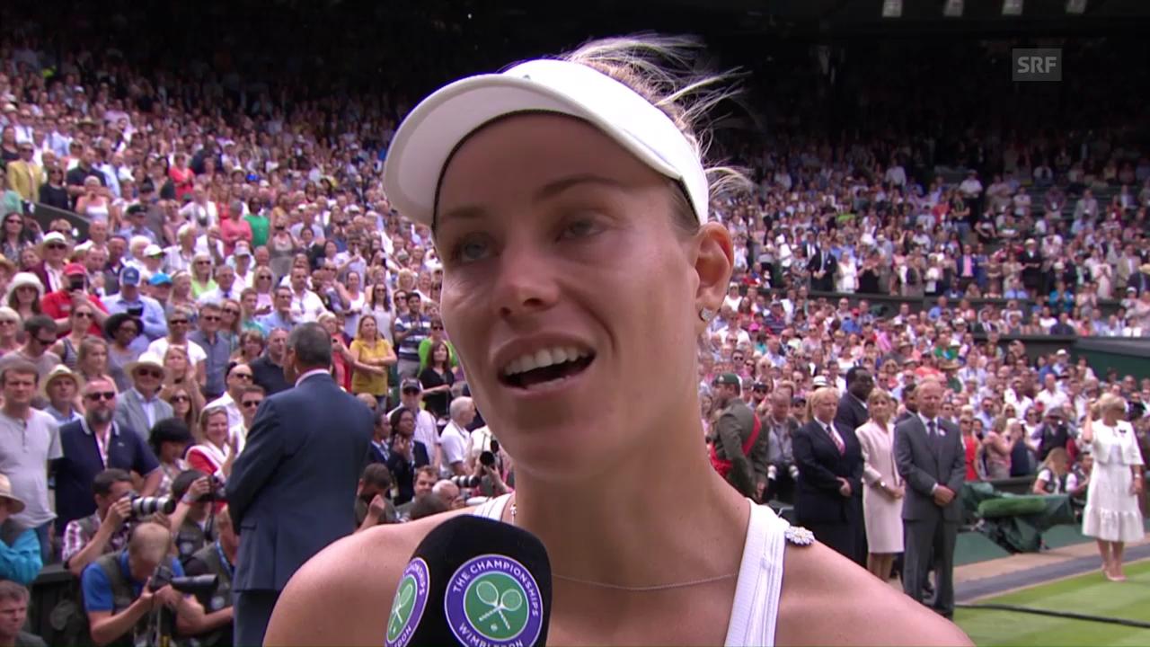 Angelique Kerber nach dem Wimbledon-Final
