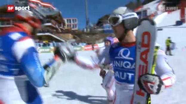 Video «Ski alpin: Teamwettkampf in Schladming» abspielen