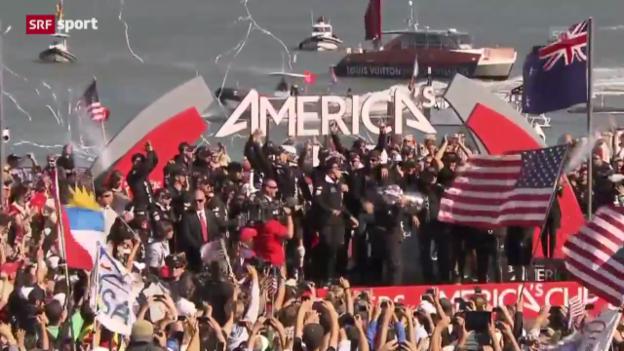 Video «Oracle verteidigt America's-Cup-Trophäe» abspielen