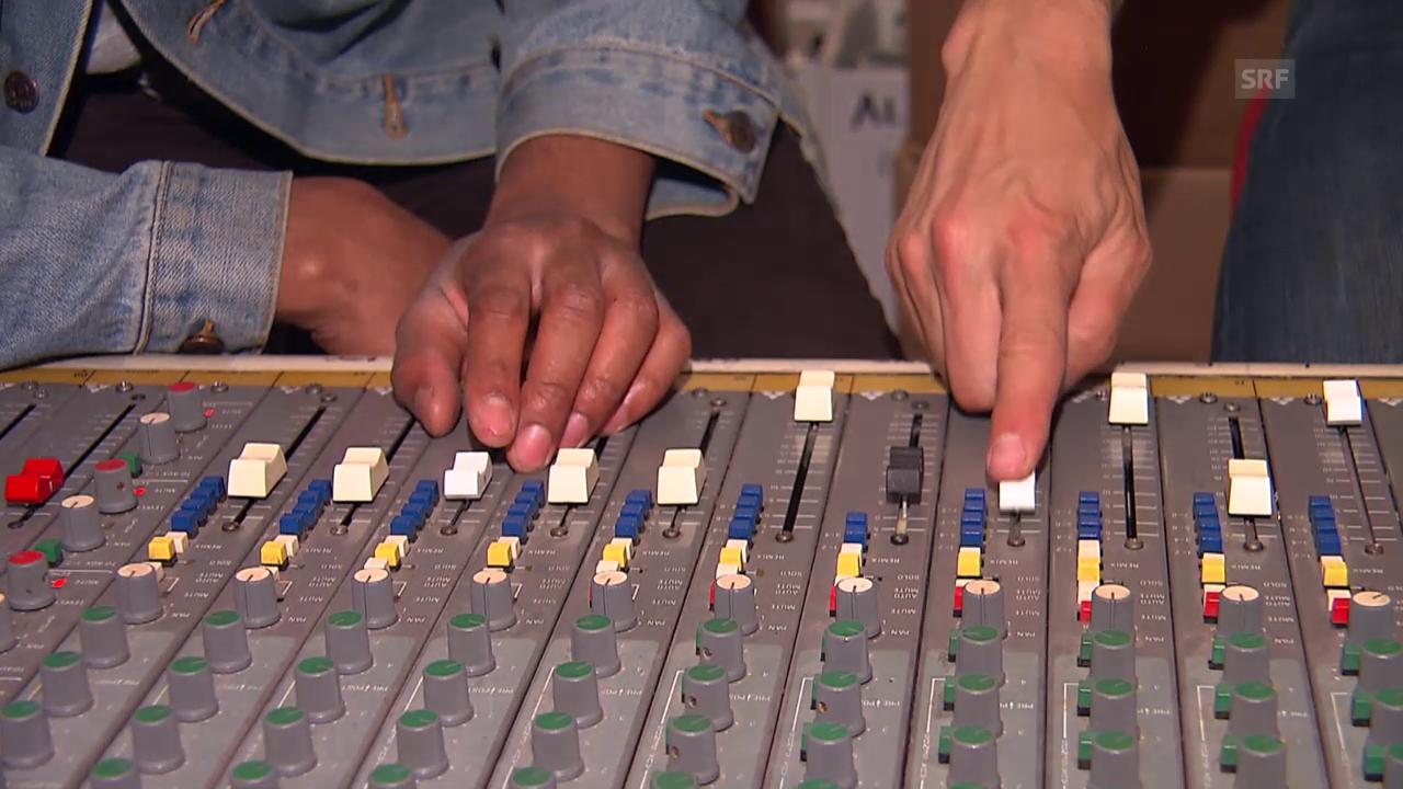 Neal Sugarman zeigt sein Aufnahmestudio