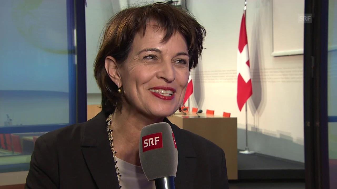 Bundesrätin Doris Leuthard: «Sie können auf diese 40 Franken vertrauen»