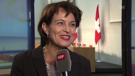 Video «Bundesrätin Doris Leuthard: «Sie können auf diese 40 Franken vertrauen»» abspielen